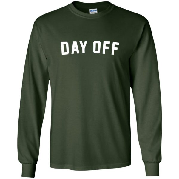 day off long sleeve - forest green