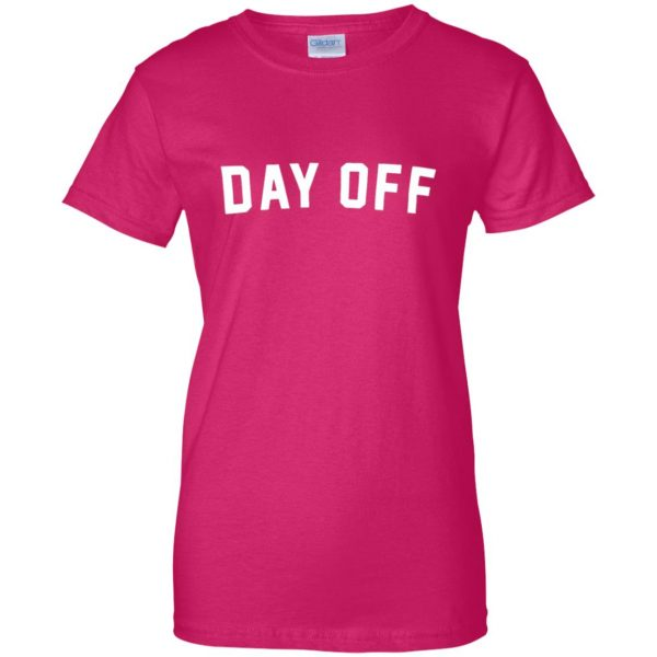 day off womens t shirt - lady t shirt - pink heliconia