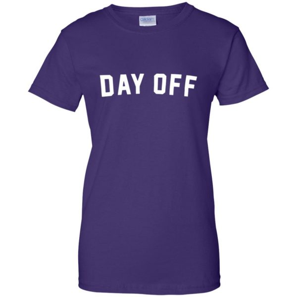 day off womens t shirt - lady t shirt - purple