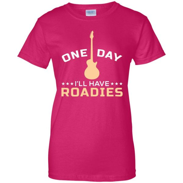 roadie womens t shirt - lady t shirt - pink heliconia