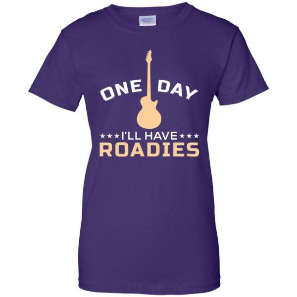 roadie womens t shirt - lady t shirt - purple