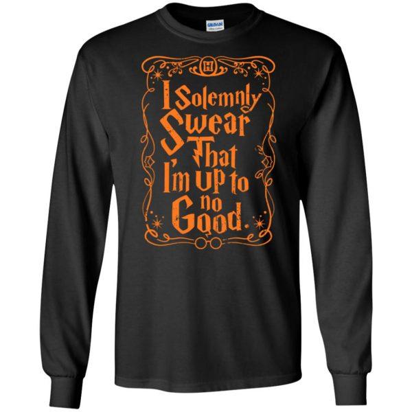 i solemnly swear long sleeve - black