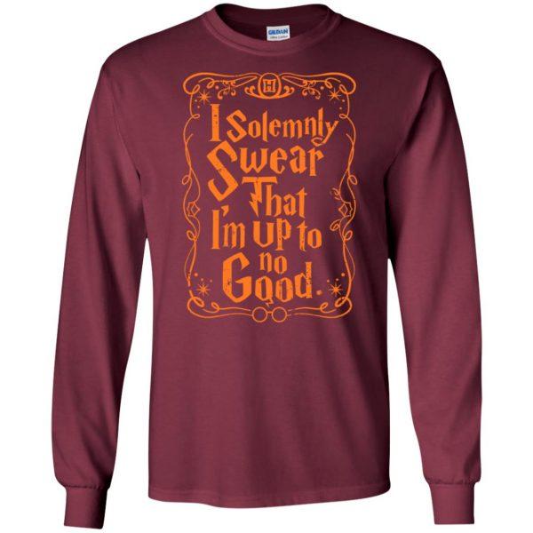 i solemnly swear long sleeve - maroon
