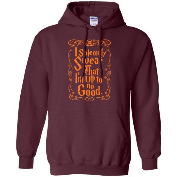 i solemnly swear hoodie - maroon