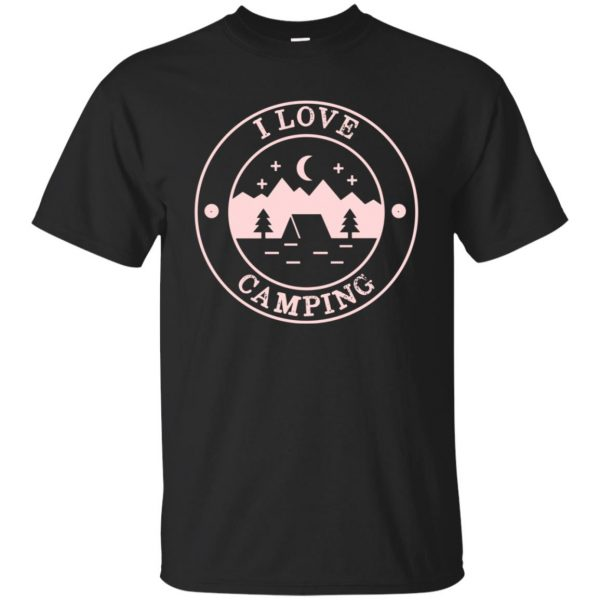i love camping shirts - black