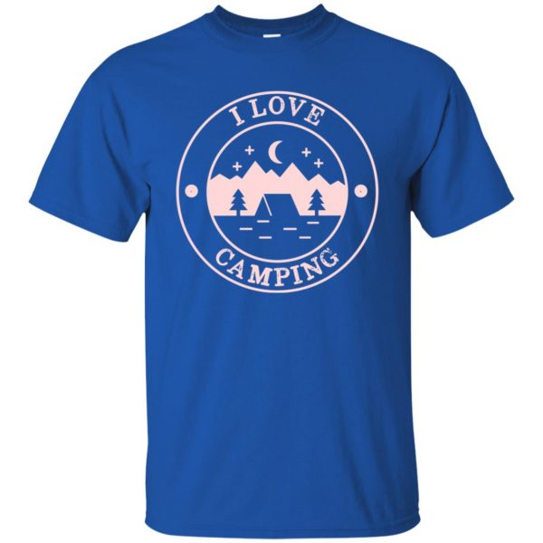 i love camping t shirt - royal blue
