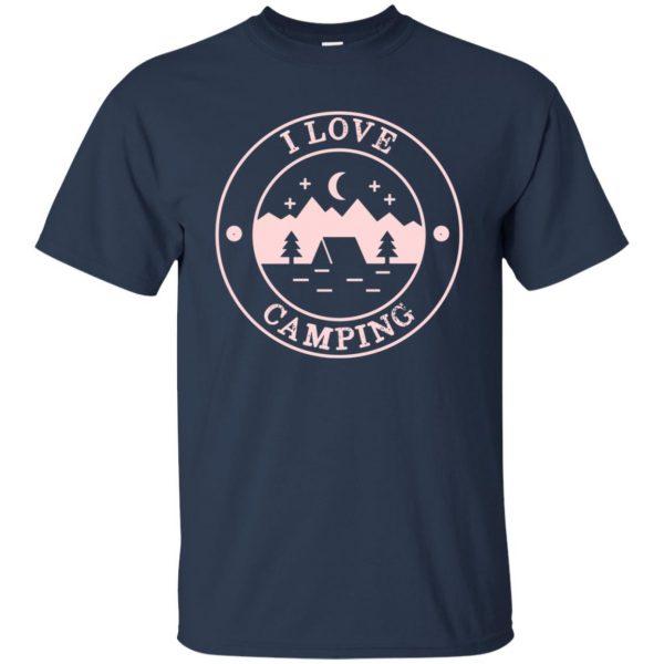 i love camping t shirt - navy blue
