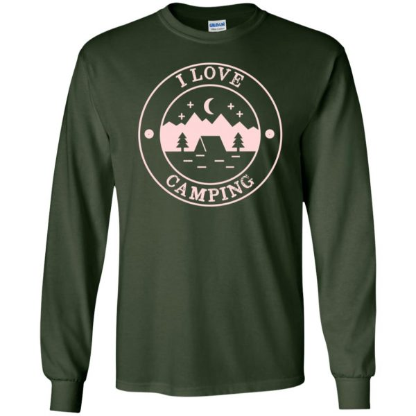 i love camping long sleeve - forest green