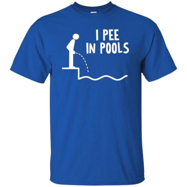 i pee in pools t shirt - royal blue