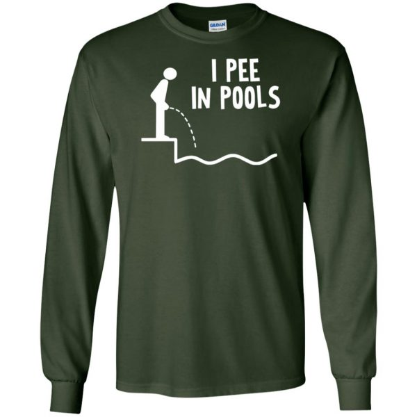 i pee in pools long sleeve - forest green