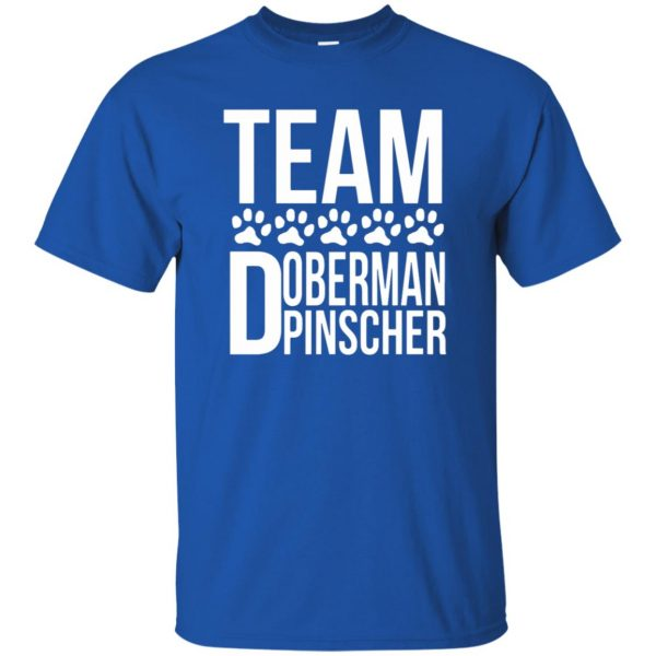 doberman pinscher t shirt - royal blue