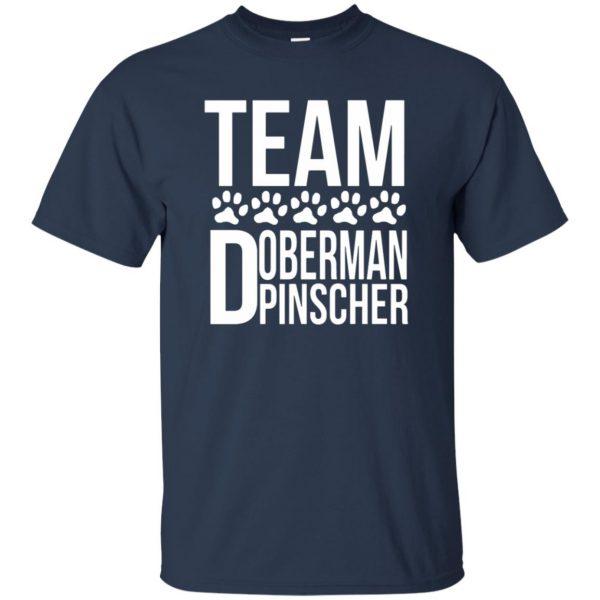 doberman pinscher t shirt - navy blue