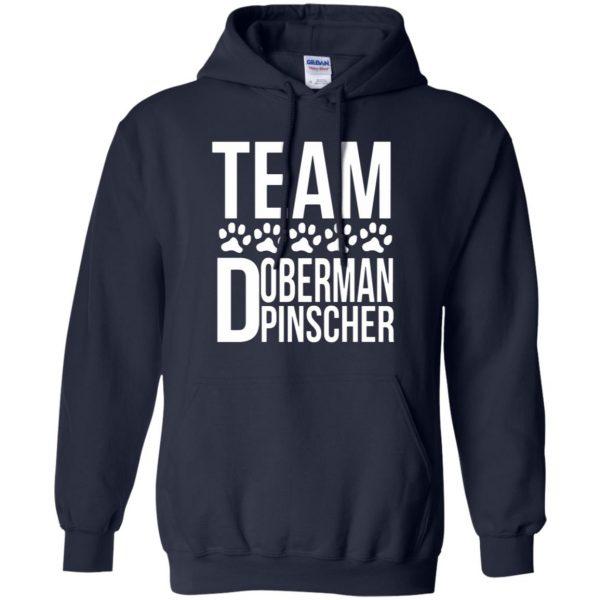 doberman pinscher hoodie - navy blue