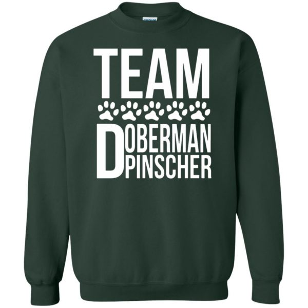doberman pinscher sweatshirt - forest green