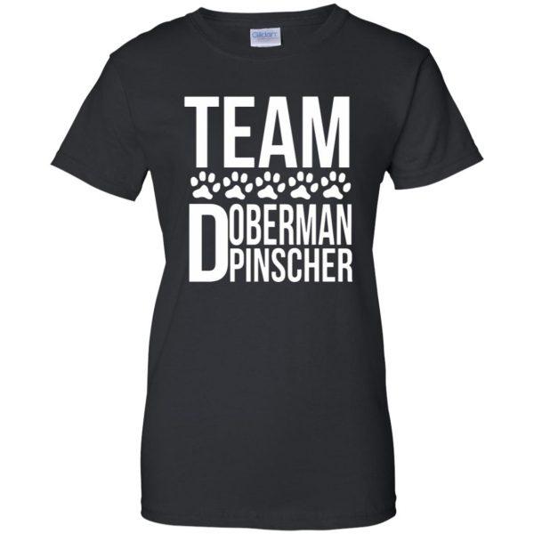 doberman pinscher womens t shirt - lady t shirt - black