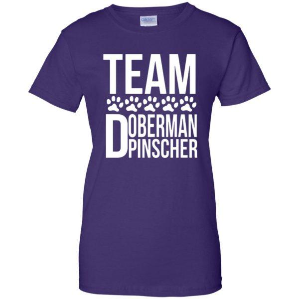 doberman pinscher womens t shirt - lady t shirt - purple