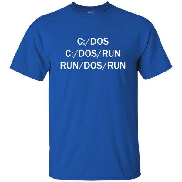 c dos run t shirt - royal blue