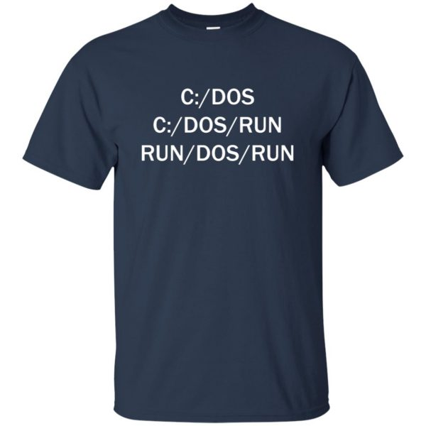 c dos run t shirt - navy blue