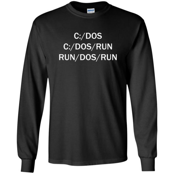c dos run long sleeve - black