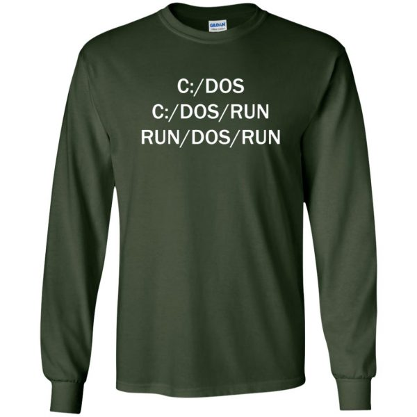 c dos run long sleeve - forest green