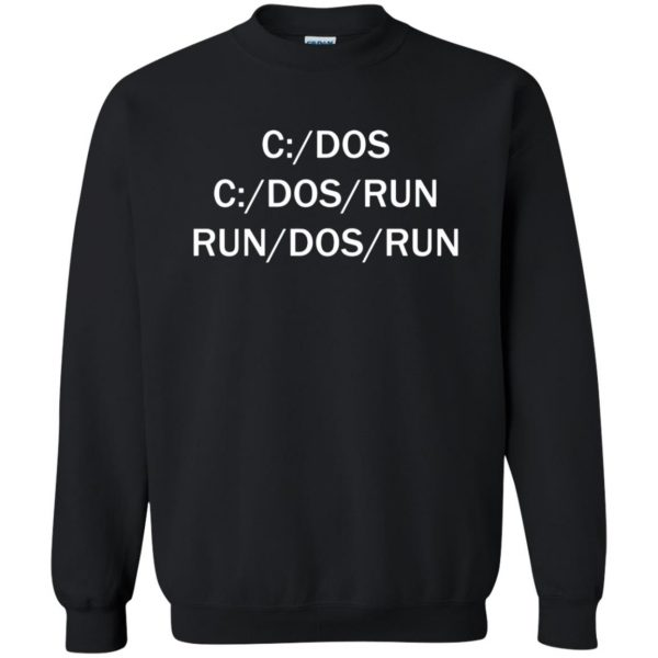 c dos run sweatshirt - black