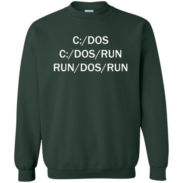 c dos run sweatshirt - forest green