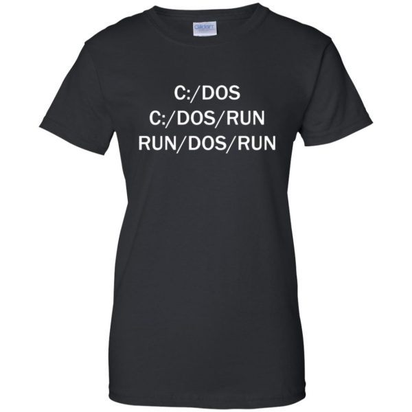 c dos run womens t shirt - lady t shirt - black