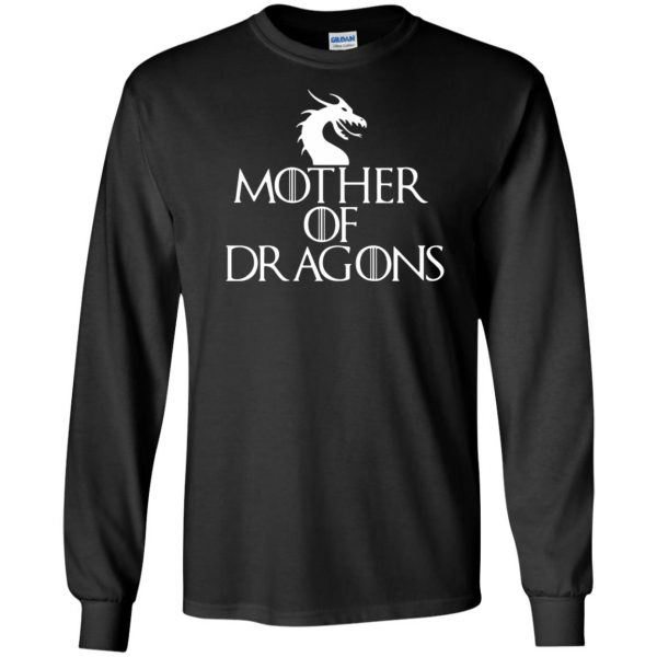 mother of dragons long sleeve - black