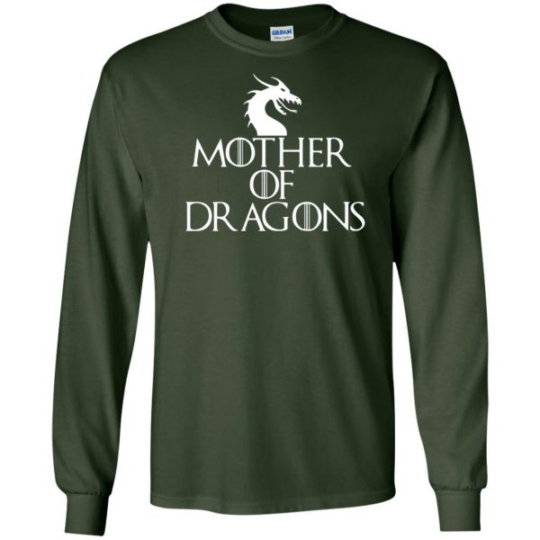 mother of dragons long sleeve - forest green