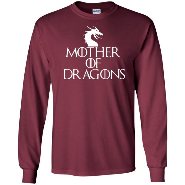 mother of dragons long sleeve - maroon