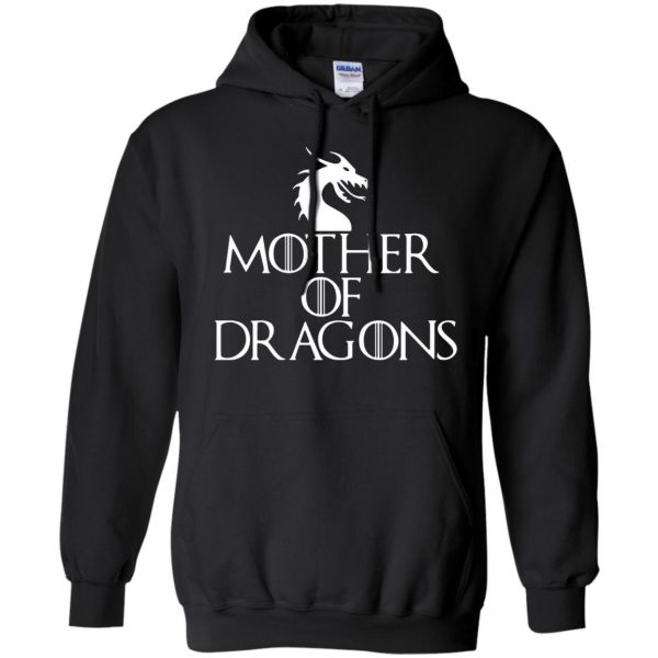 mother of dragons hoodie - black