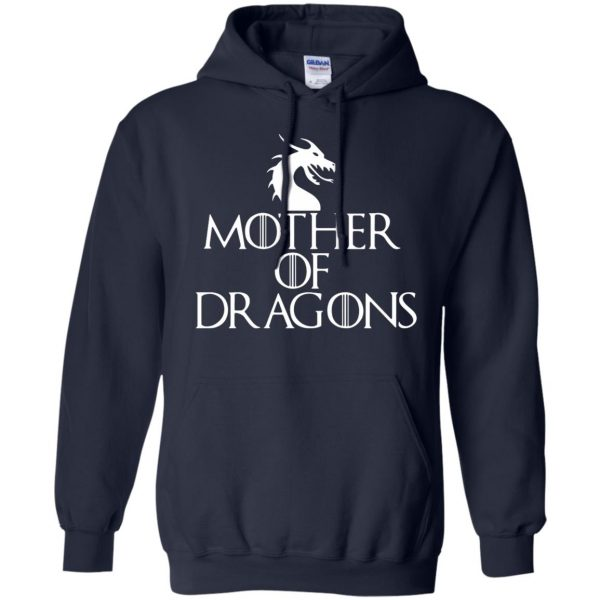 mother of dragons hoodie - navy blue