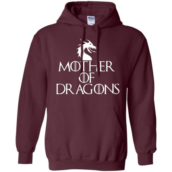 mother of dragons hoodie - maroon