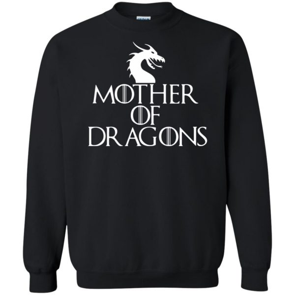 mother of dragons sweatshirt - black