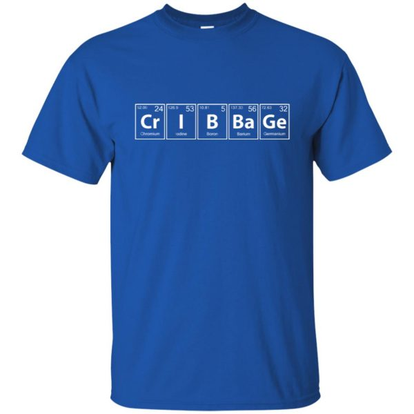 cribbage t shirt - royal blue