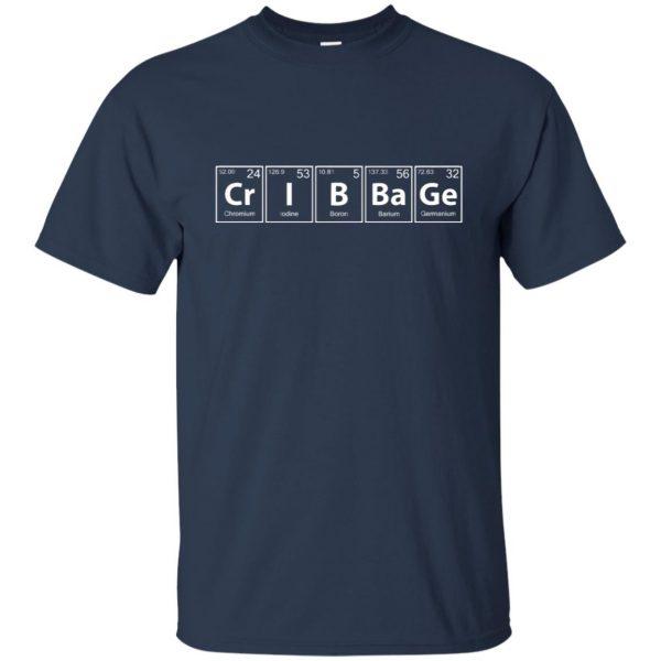 cribbage t shirt - navy blue