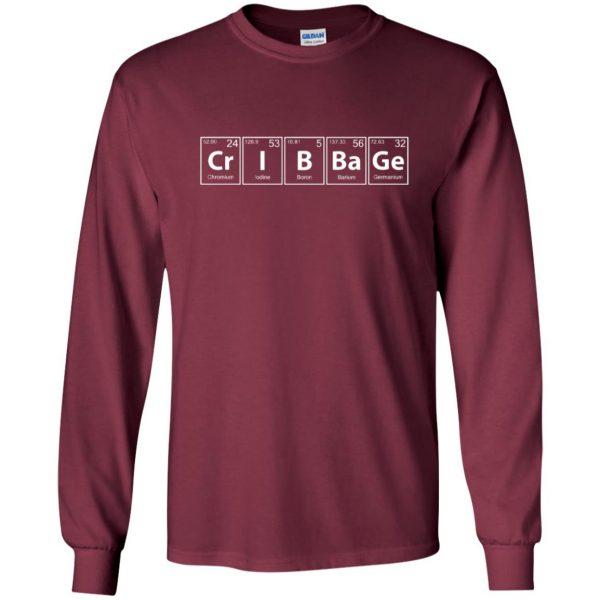 cribbage long sleeve - maroon