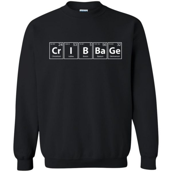 cribbage sweatshirt - black