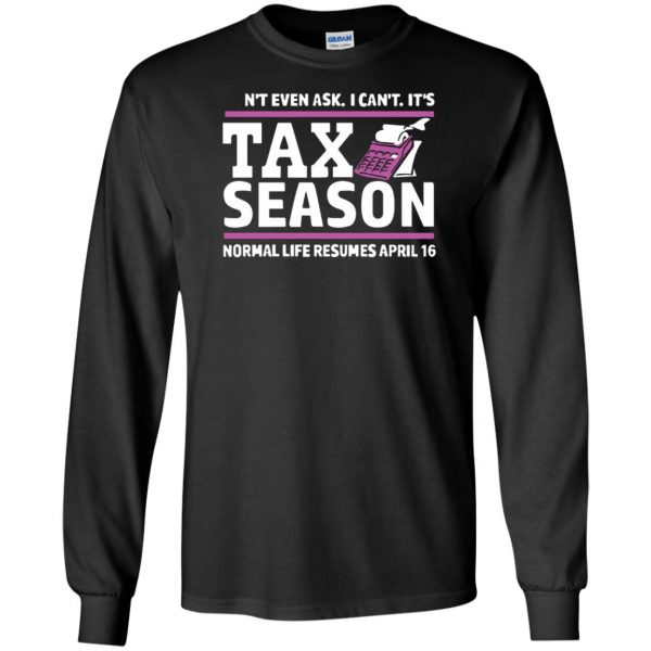 tax season long sleeve - black