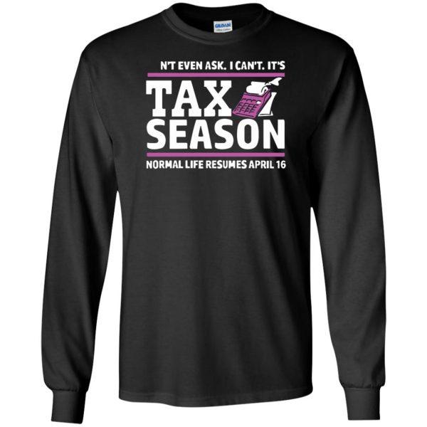 tax season long sleeve - black