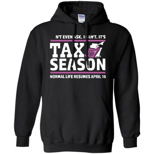 tax season hoodie - black