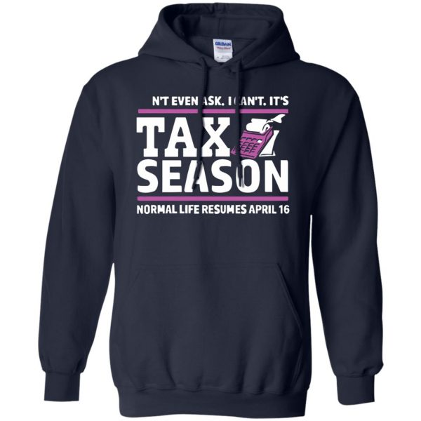 tax season hoodie - navy blue