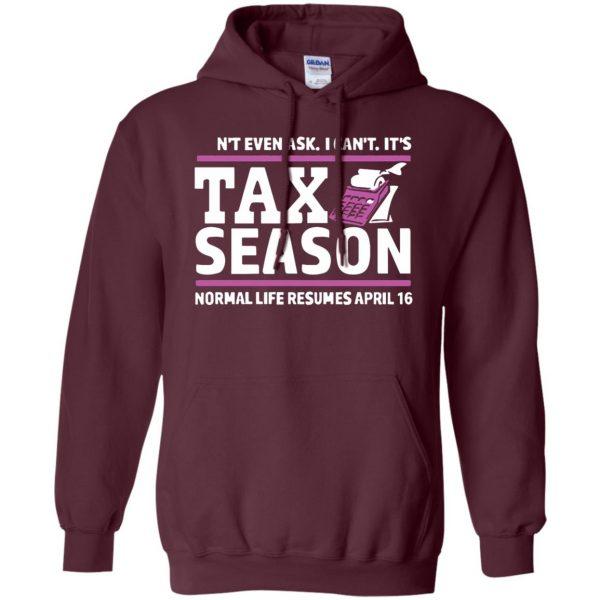 tax season hoodie - maroon