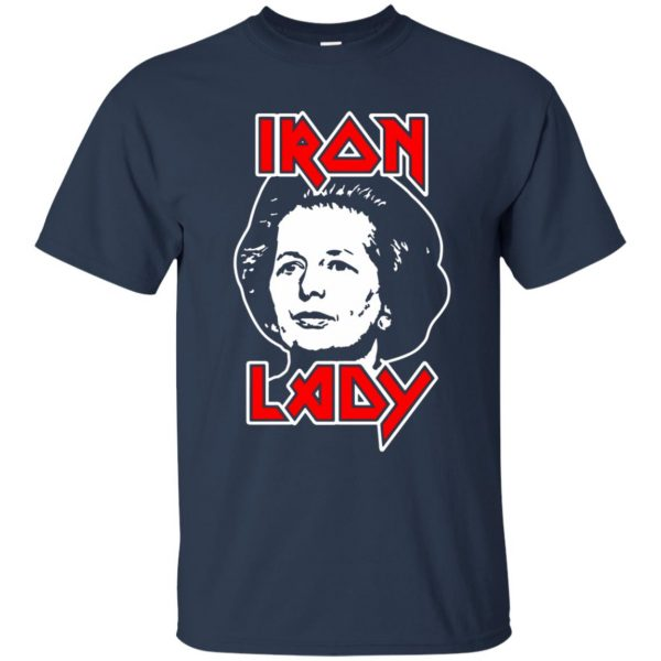 margaret thatcher t shirt - navy blue