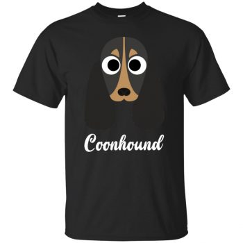 coonhound t shirts - black