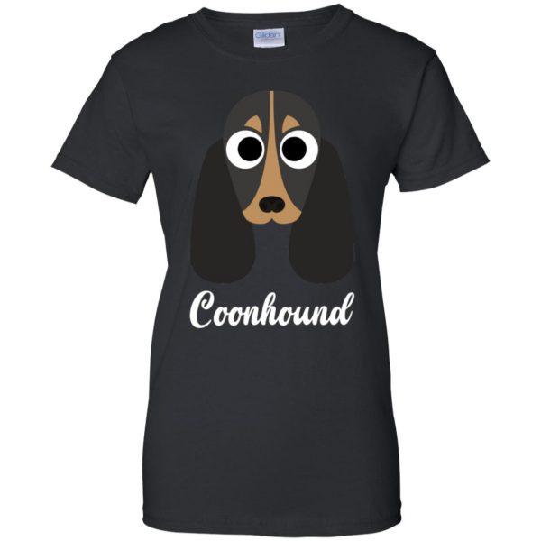 coonhound womens t shirt - lady t shirt - black