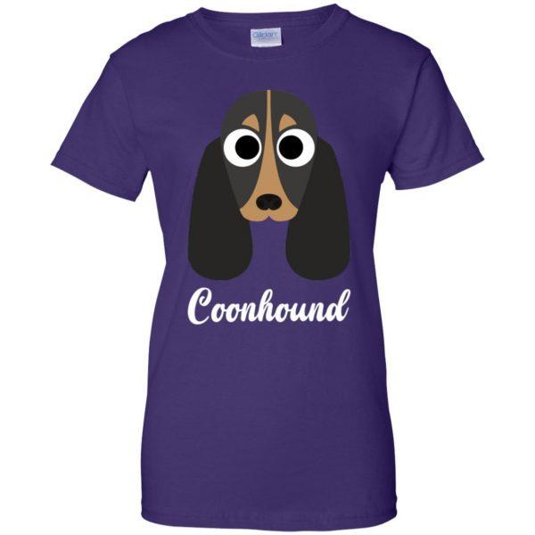 coonhound womens t shirt - lady t shirt - purple