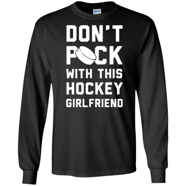 hockey girlfriend long sleeve - black