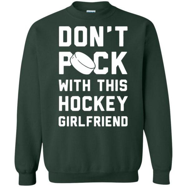 hockey girlfriend sweatshirt - forest green