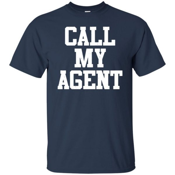 call my agent t shirt - navy blue